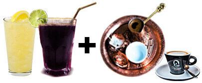 Čairska limunada / borovnica + fildžan / espresso kafa